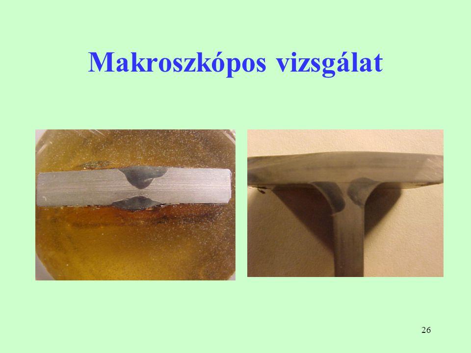 Makroszkópos vizsgálat