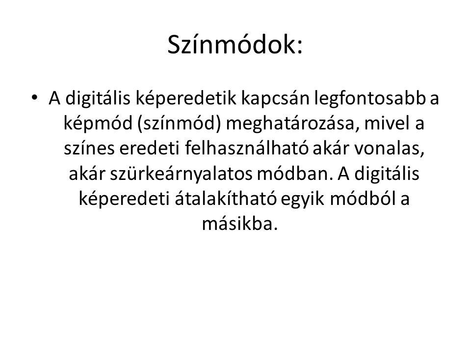 Színmódok: