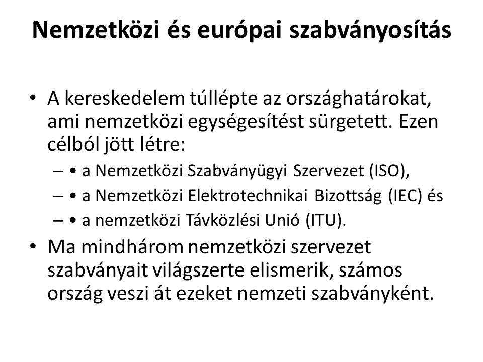 Nemzetközi és európai szabványosítás