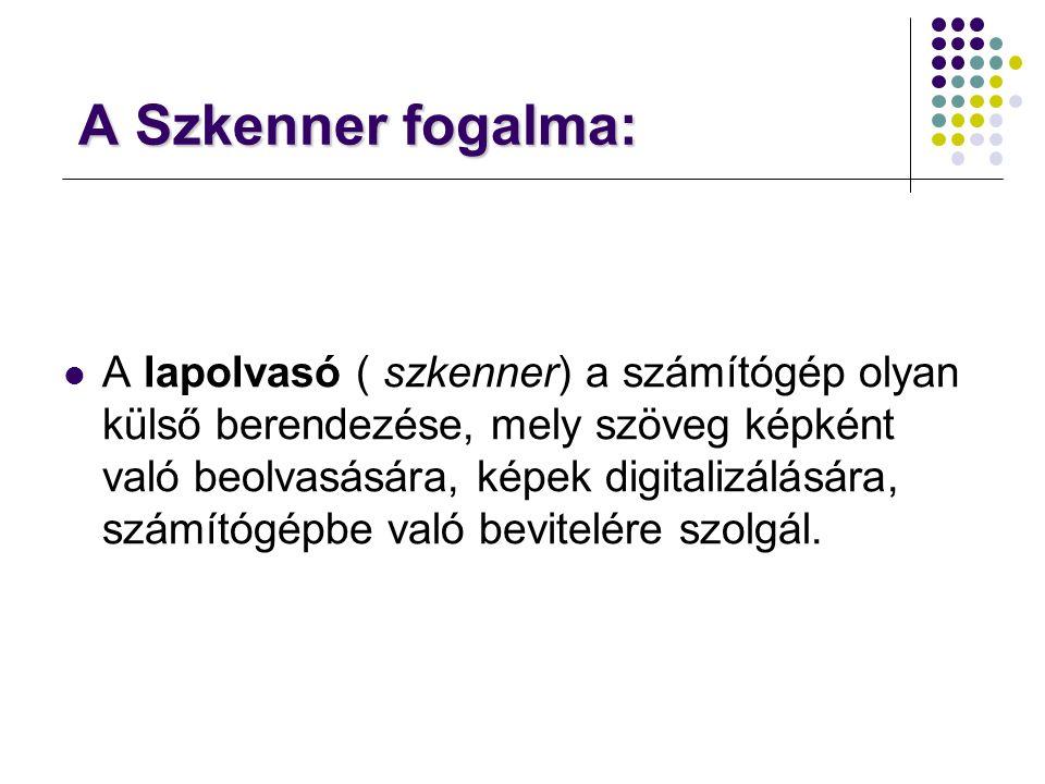 A Szkenner fogalma: