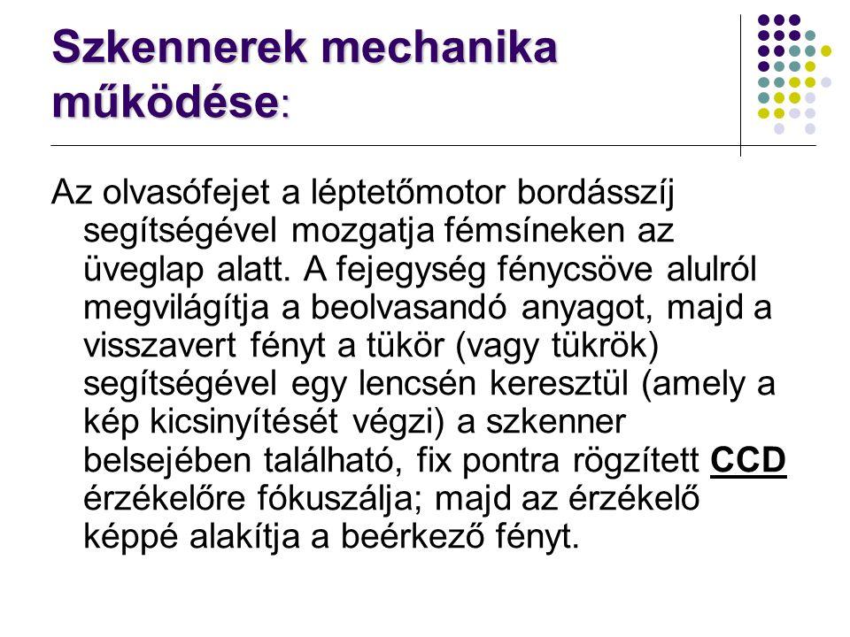 Szkennerek mechanika működése: