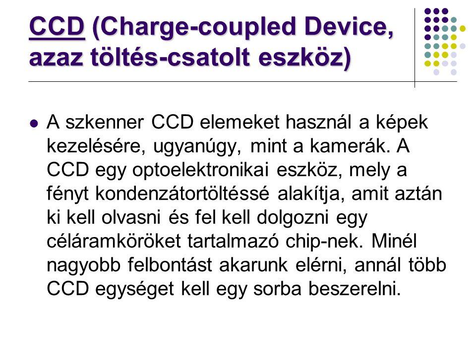 CCD (Charge-coupled Device, azaz töltés-csatolt eszköz)