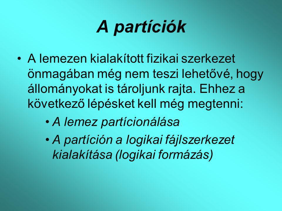 A partíciók