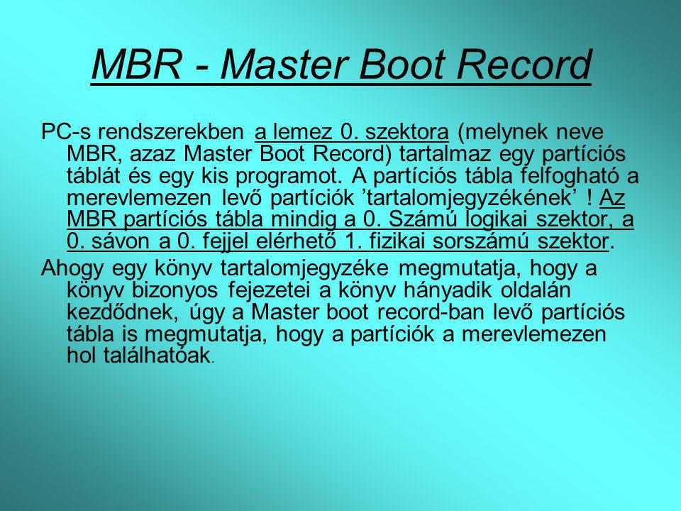 MBR - Master Boot Record
