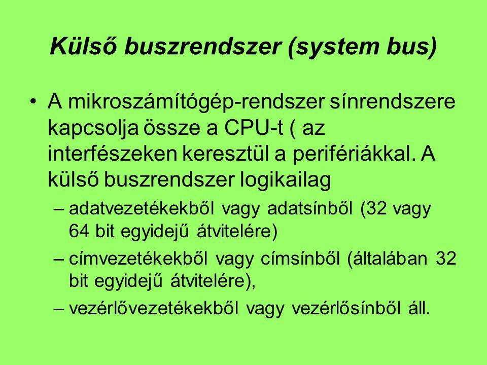 Külső buszrendszer (system bus)