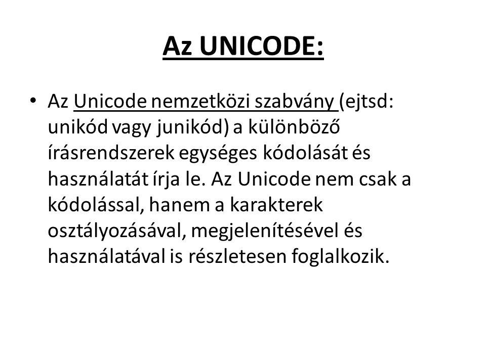 Az UNICODE: