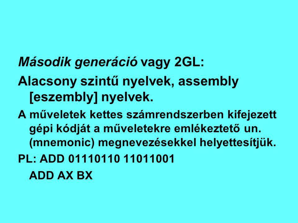 Második generáció vagy 2GL: