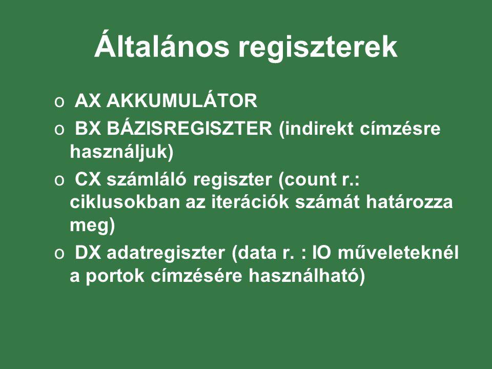 Általános regiszterek