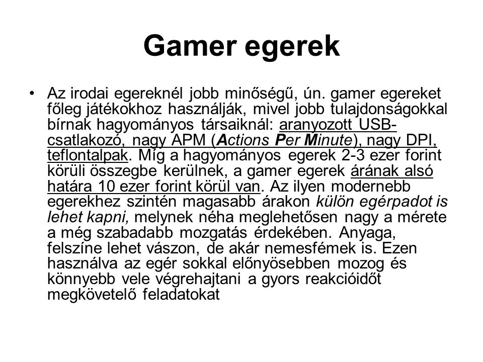 Gamer egerek
