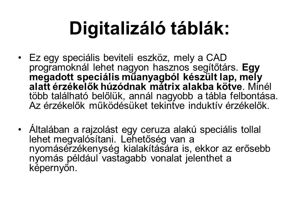 Digitalizáló táblák: