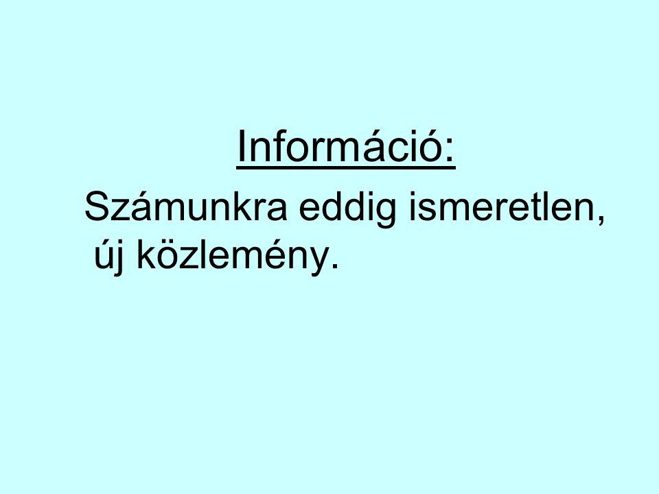 Információ: Számunkra eddig ismeretlen, új közlemény.