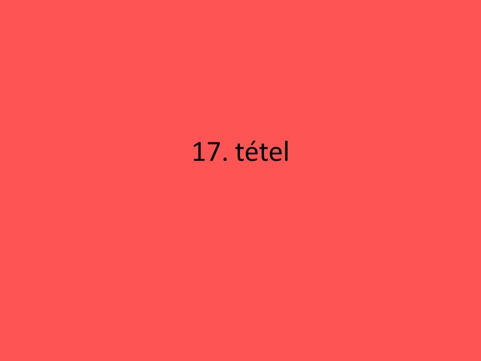 17. tétel