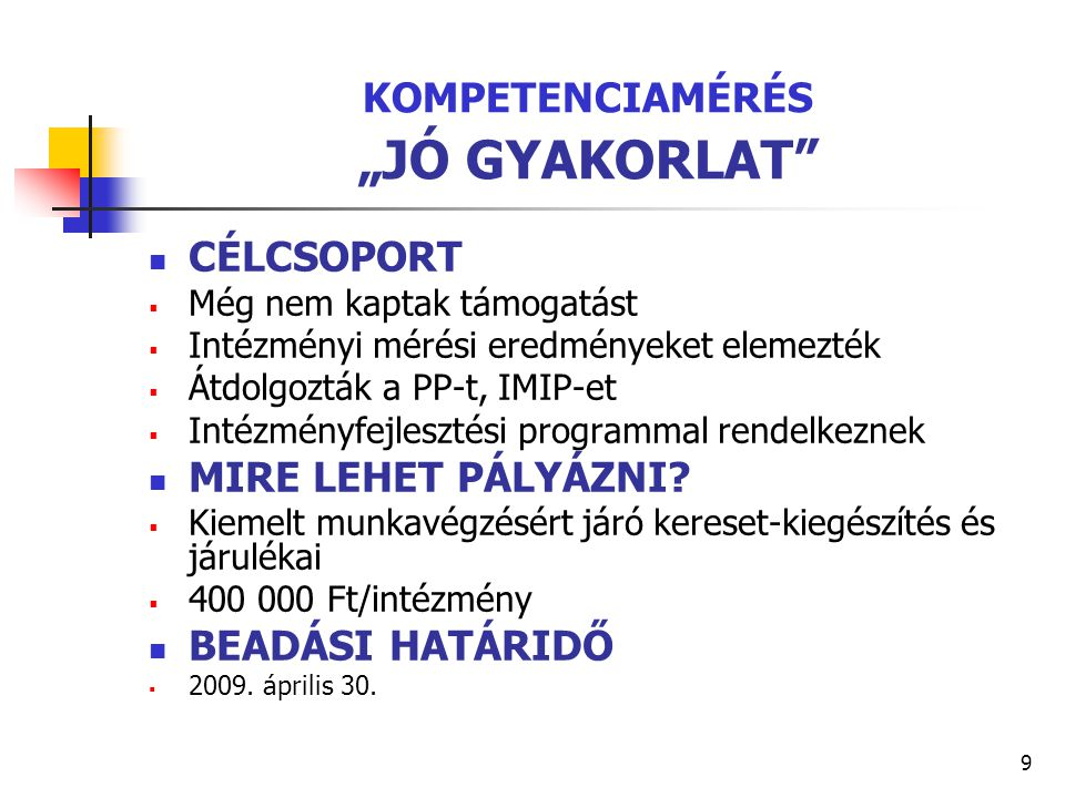 """KOMPETENCIAMÉRÉS """"JÓ GYAKORLAT"""