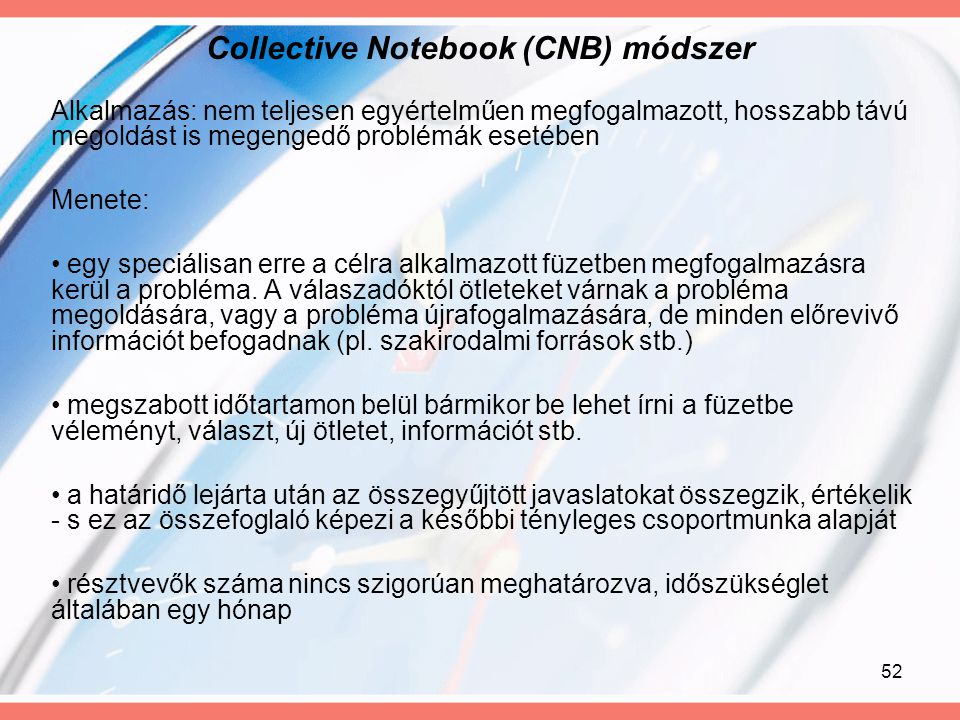 Collective Notebook (CNB) módszer