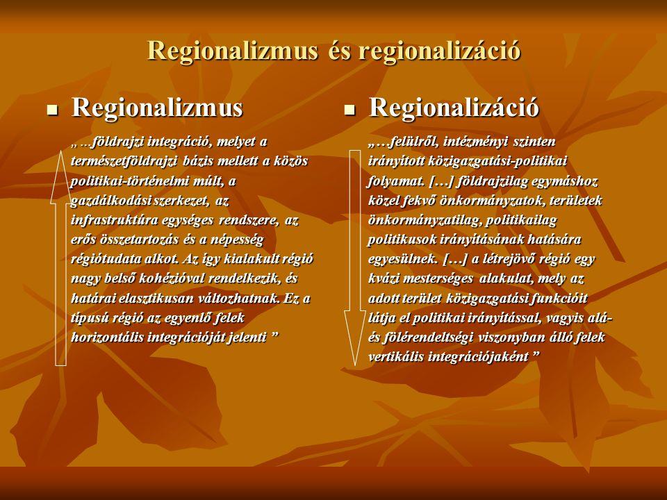 Regionalizmus és regionalizáció