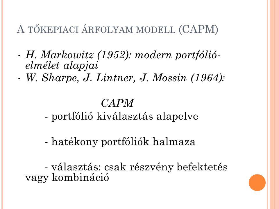 A tőkepiaci árfolyam modell (CAPM)