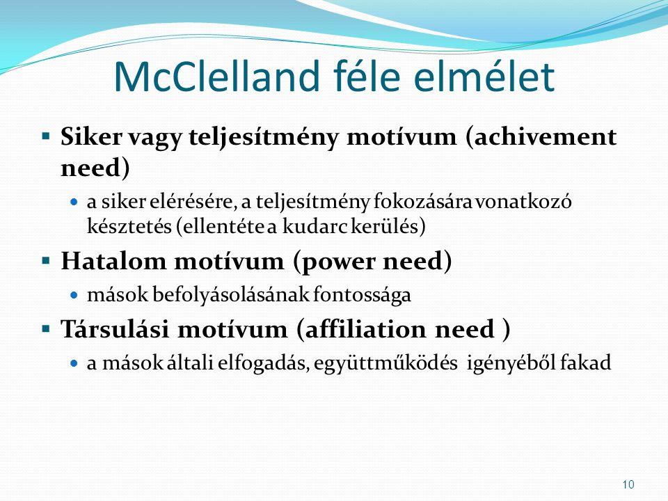 McClelland féle elmélet