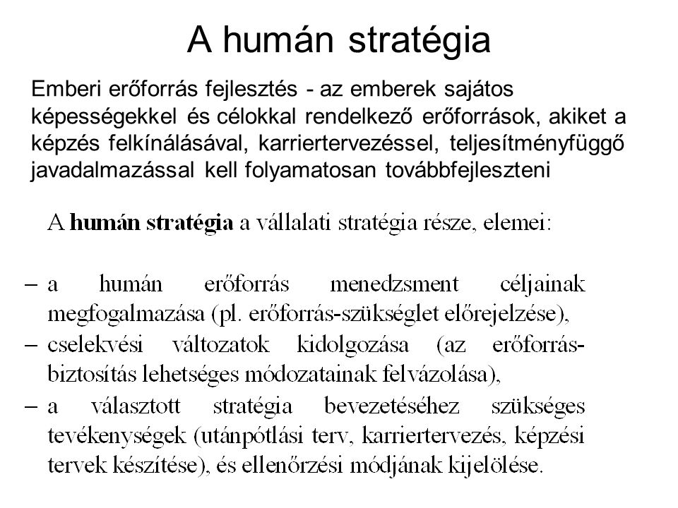 A humán stratégia