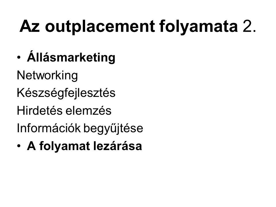 Az outplacement folyamata 2.