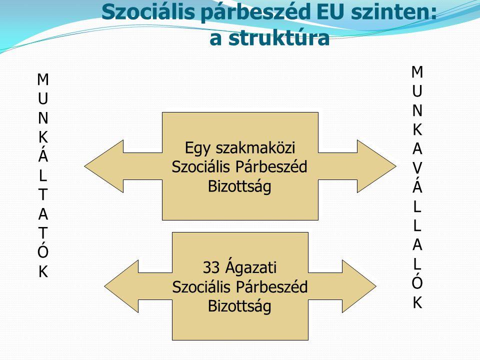 Szociális párbeszéd EU szinten: a struktúra