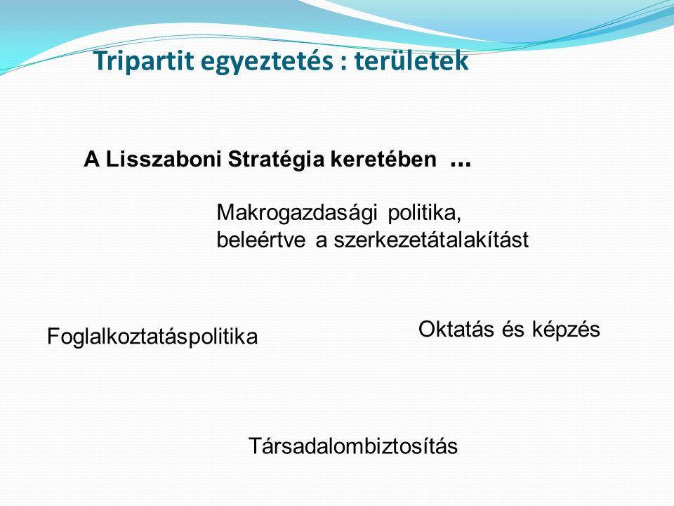 Tripartit egyeztetés : területek