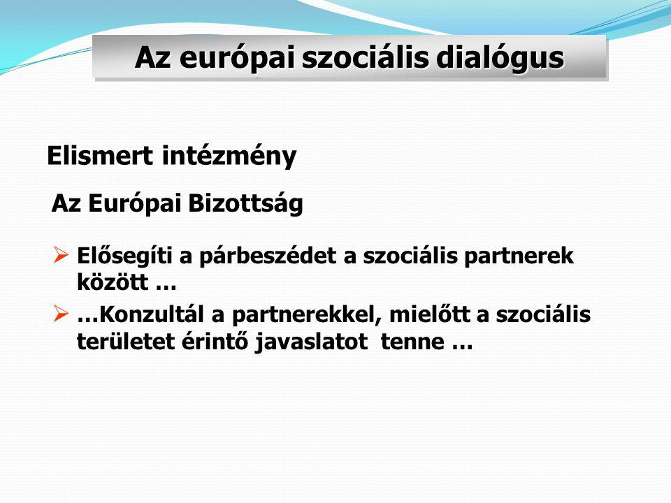 Az európai szociális dialógus