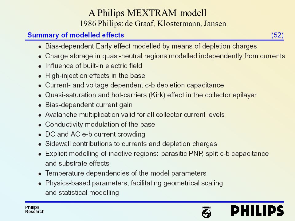 A Philips MEXTRAM modell