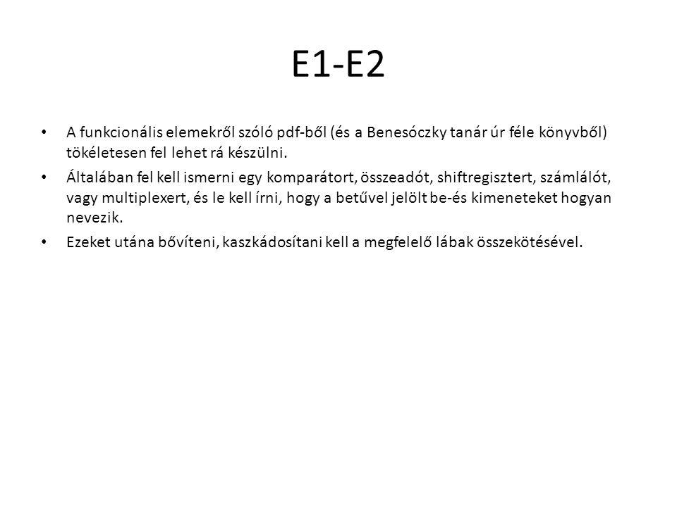 E1-E2 A funkcionális elemekről szóló pdf-ből (és a Benesóczky tanár úr féle könyvből) tökéletesen fel lehet rá készülni.