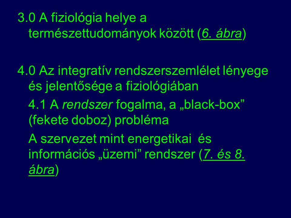 3.0 A fiziológia helye a természettudományok között (6. ábra)