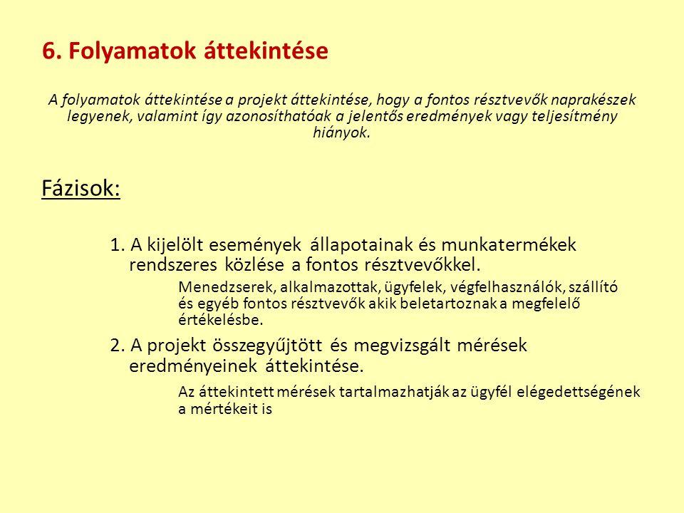 6. Folyamatok áttekintése