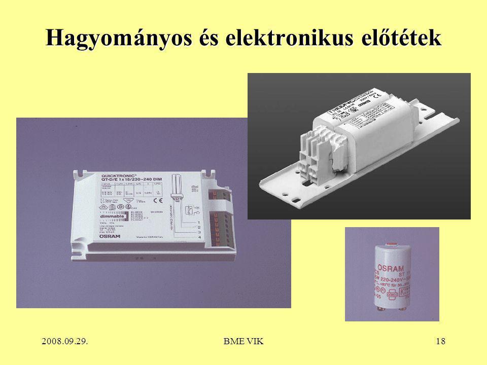 Hagyományos és elektronikus előtétek
