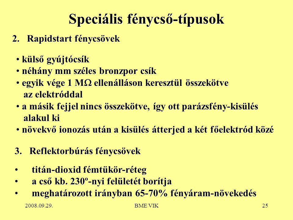 Speciális fénycső-típusok