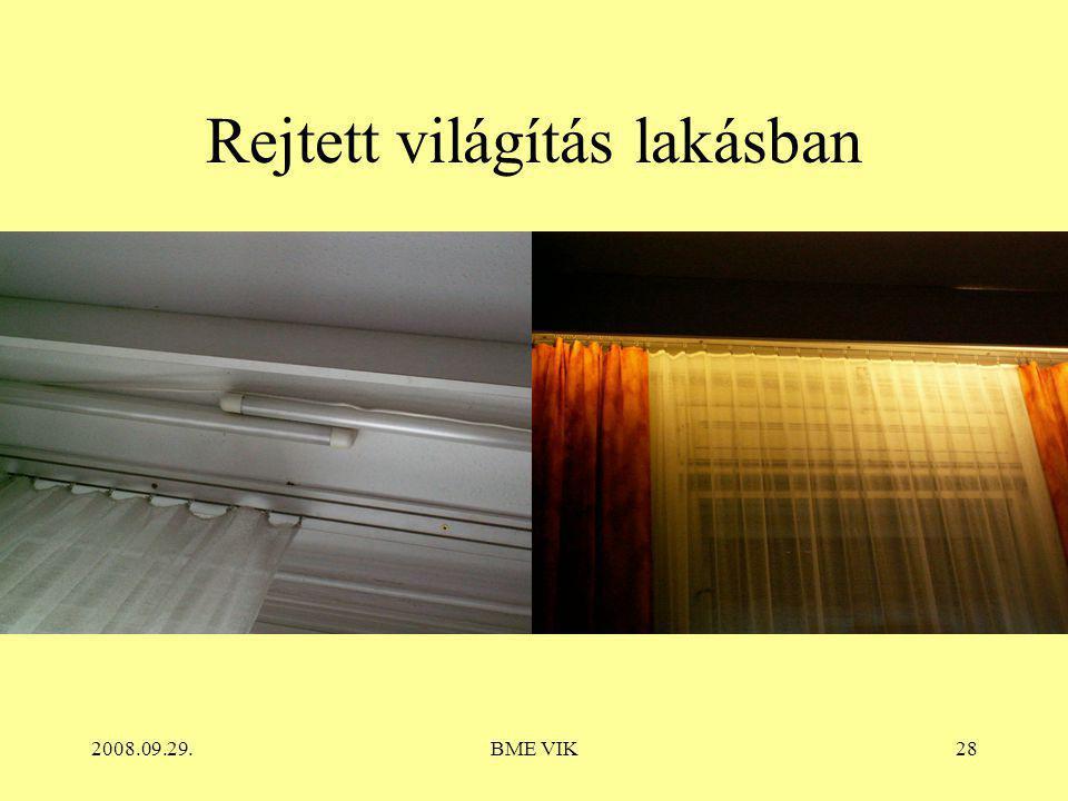 Rejtett világítás lakásban