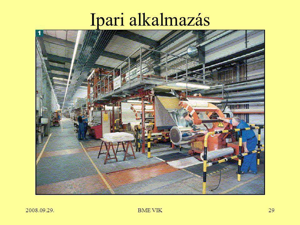 Ipari alkalmazás 2008.09.29. BME VIK