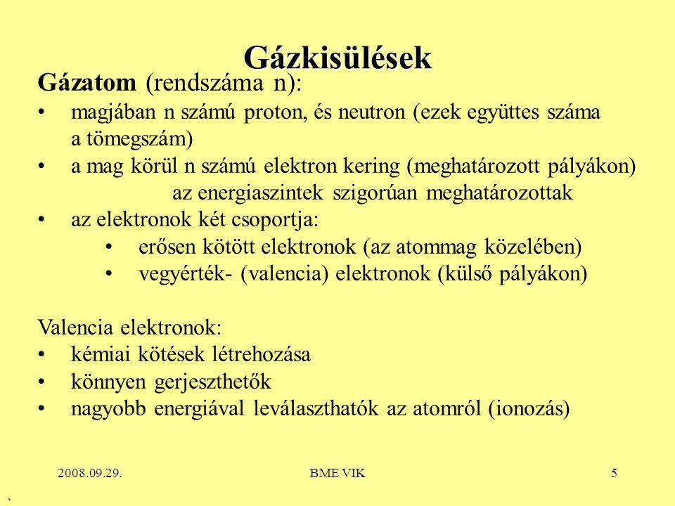 Gázkisülések Gázatom (rendszáma n):