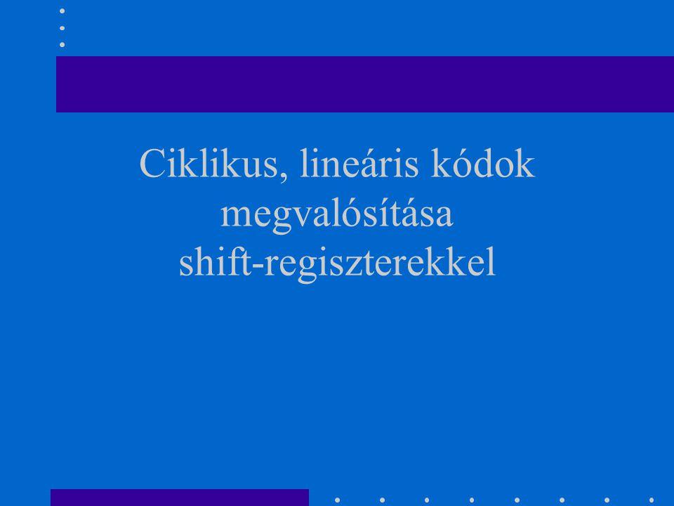 Ciklikus, lineáris kódok megvalósítása shift-regiszterekkel