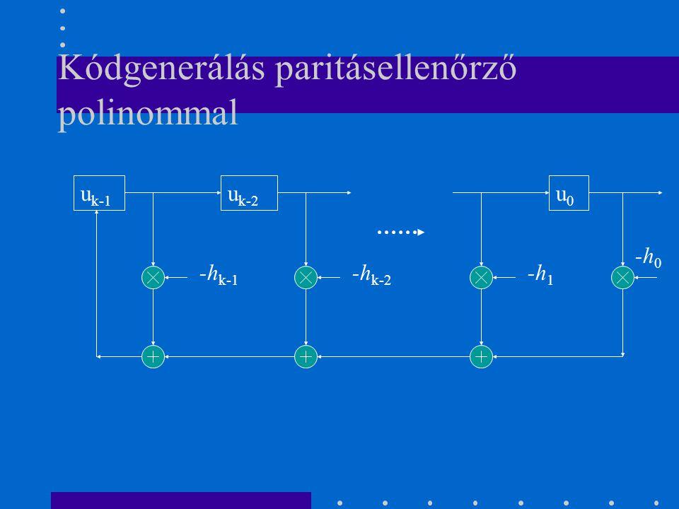 Kódgenerálás paritásellenőrző polinommal