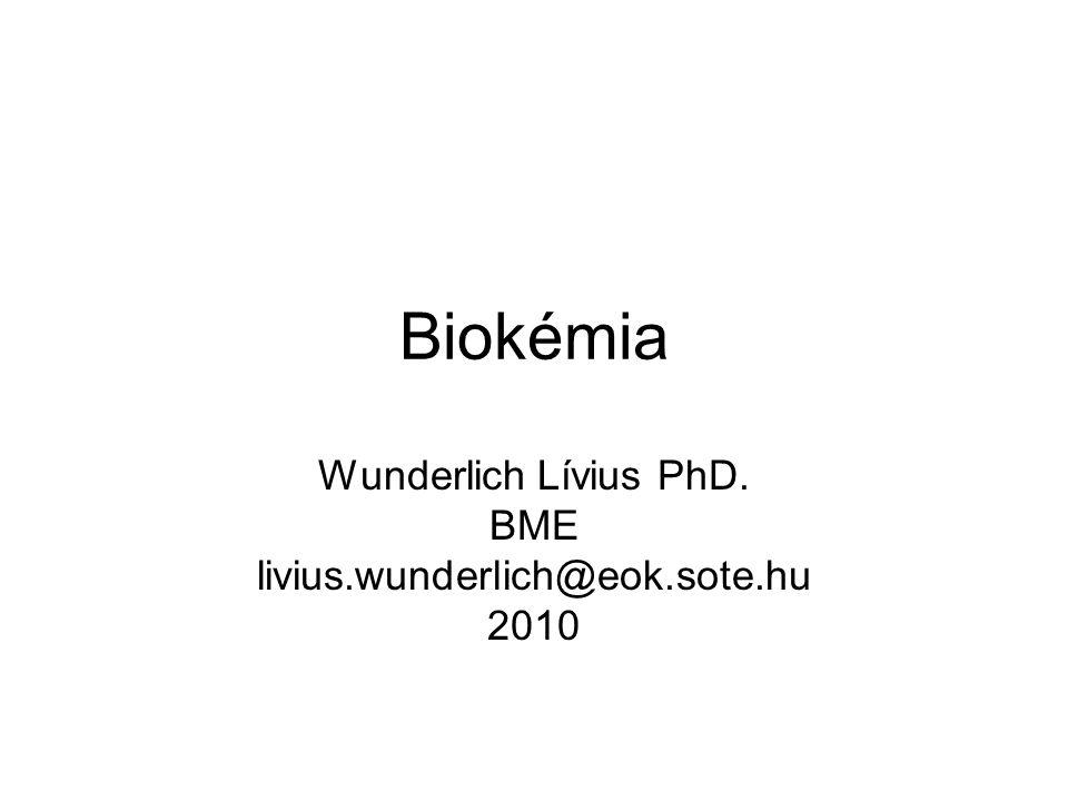 Wunderlich Lívius PhD. BME livius.wunderlich@eok.sote.hu 2010