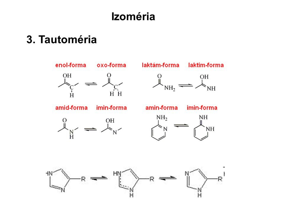 Izoméria 3. Tautoméria