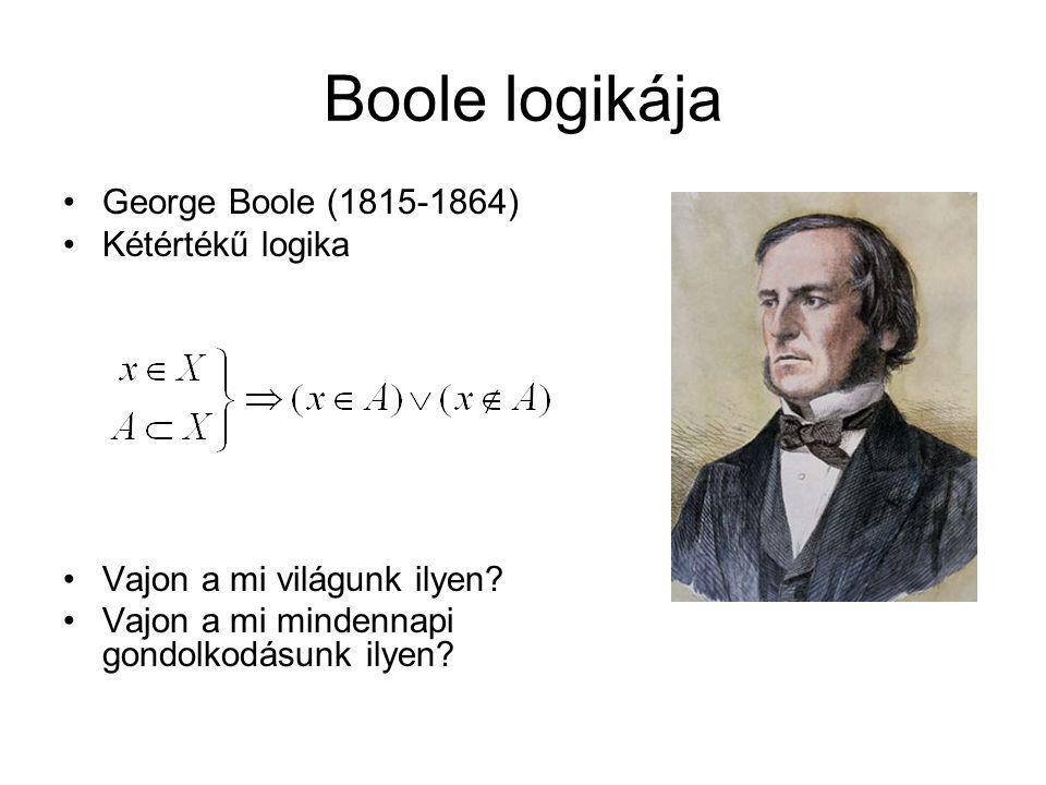 Boole logikája George Boole (1815-1864) Kétértékű logika