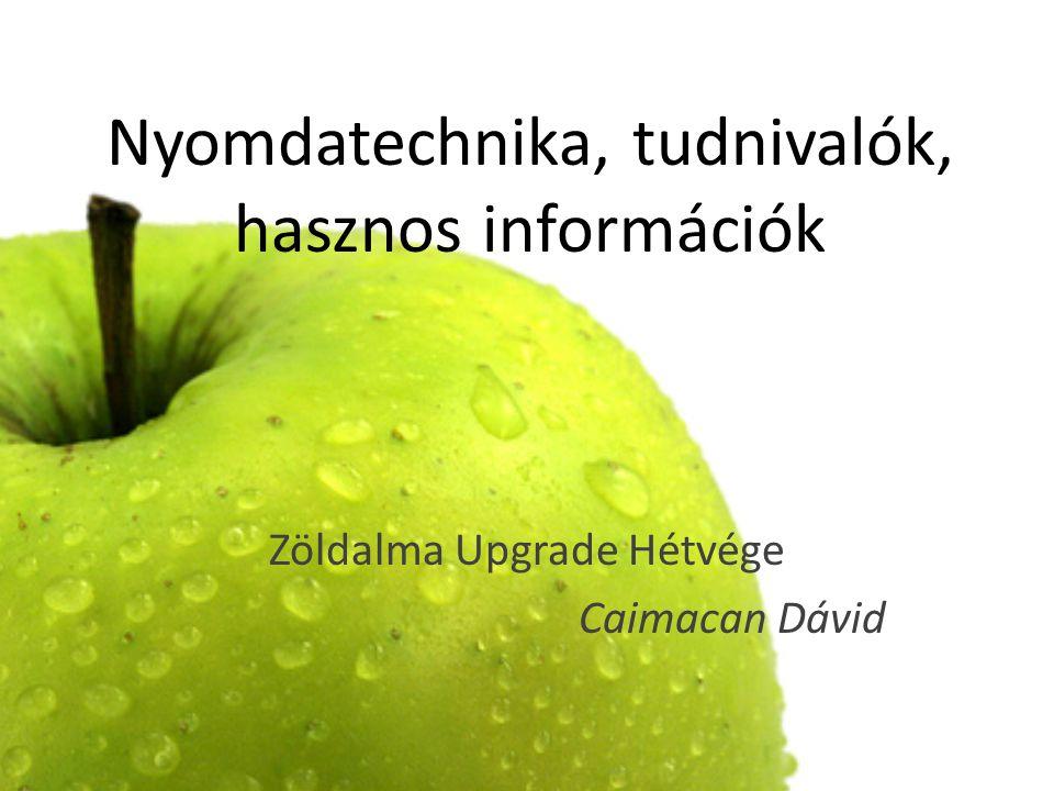 Nyomdatechnika, tudnivalók, hasznos információk