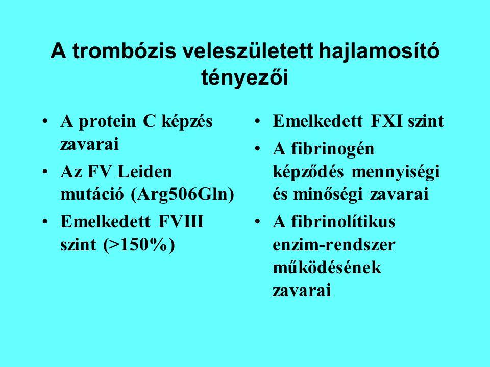 A trombózis veleszületett hajlamosító tényezői