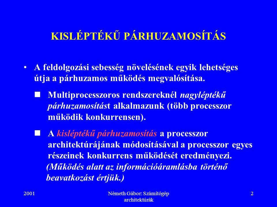 KISLÉPTÉKŰ PÁRHUZAMOSÍTÁS