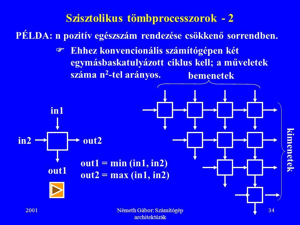 Szisztolikus tömbprocesszorok - 2