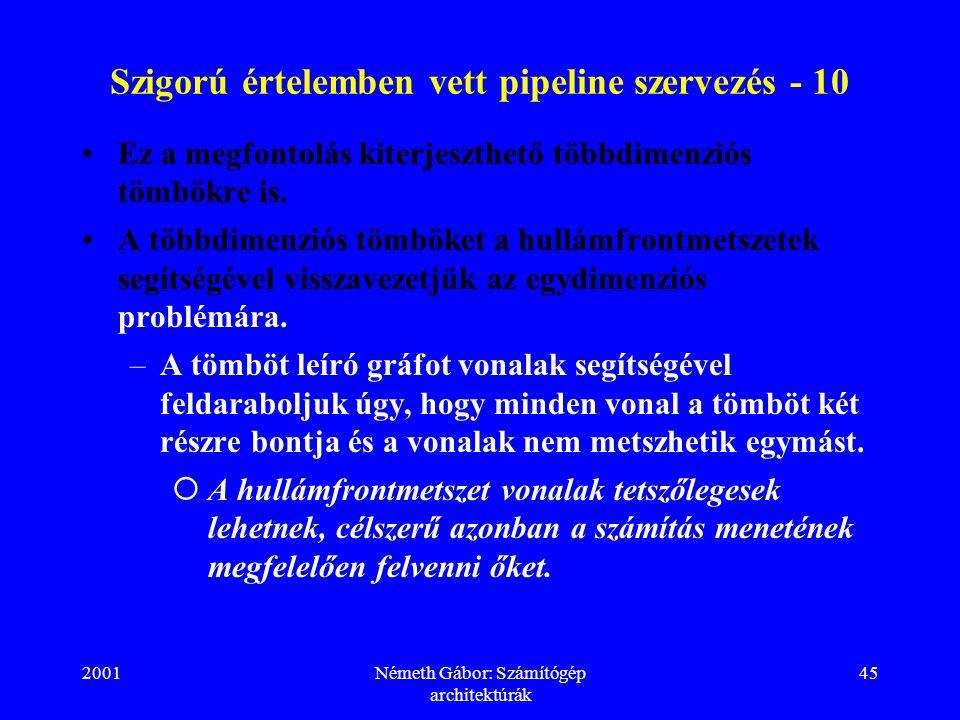 Szigorú értelemben vett pipeline szervezés - 10