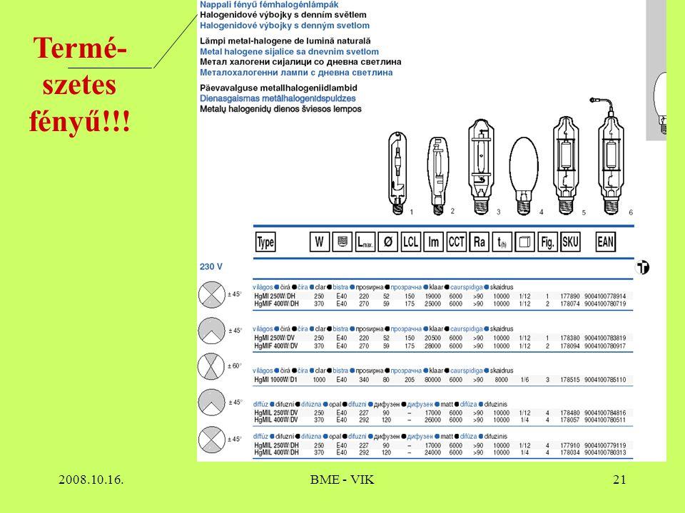Termé-szetes fényű!!! 2008.10.16. BME - VIK