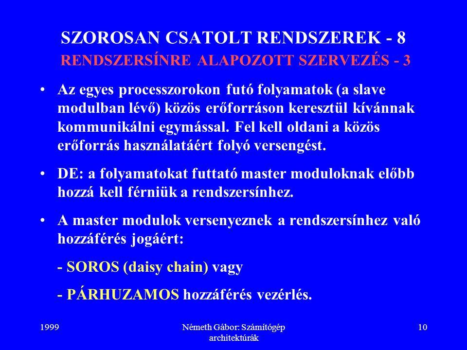 SZOROSAN CSATOLT RENDSZEREK - 8 RENDSZERSÍNRE ALAPOZOTT SZERVEZÉS - 3