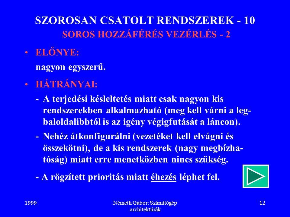 SZOROSAN CSATOLT RENDSZEREK - 10 SOROS HOZZÁFÉRÉS VEZÉRLÉS - 2