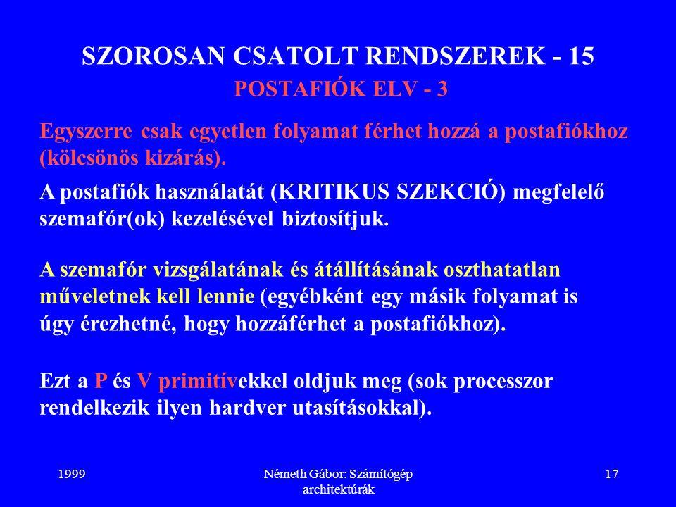 SZOROSAN CSATOLT RENDSZEREK - 15 POSTAFIÓK ELV - 3