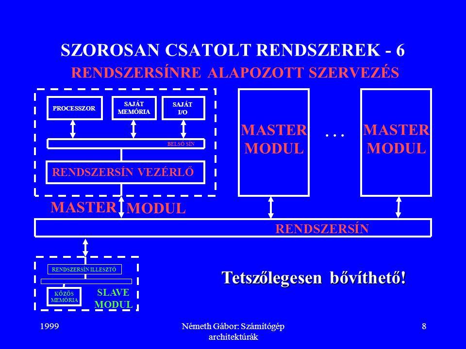 SZOROSAN CSATOLT RENDSZEREK - 6 RENDSZERSÍNRE ALAPOZOTT SZERVEZÉS